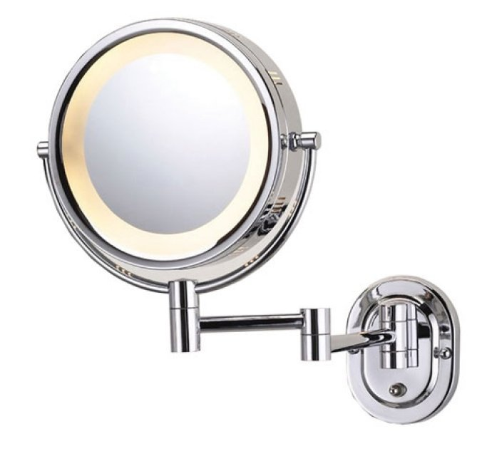 wall mounted shaving cosmetic mirror illuminated. Black Bedroom Furniture Sets. Home Design Ideas